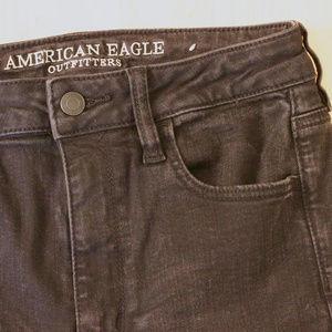 American Eagle Black Jeans Long High Waisted Pants
